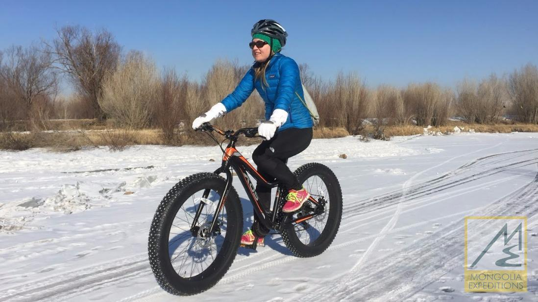 Fat biking in Ulaanbaatar