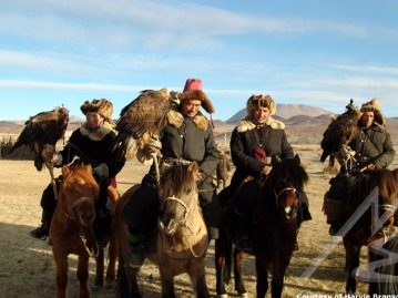 Horse Riding With Golden Eagles